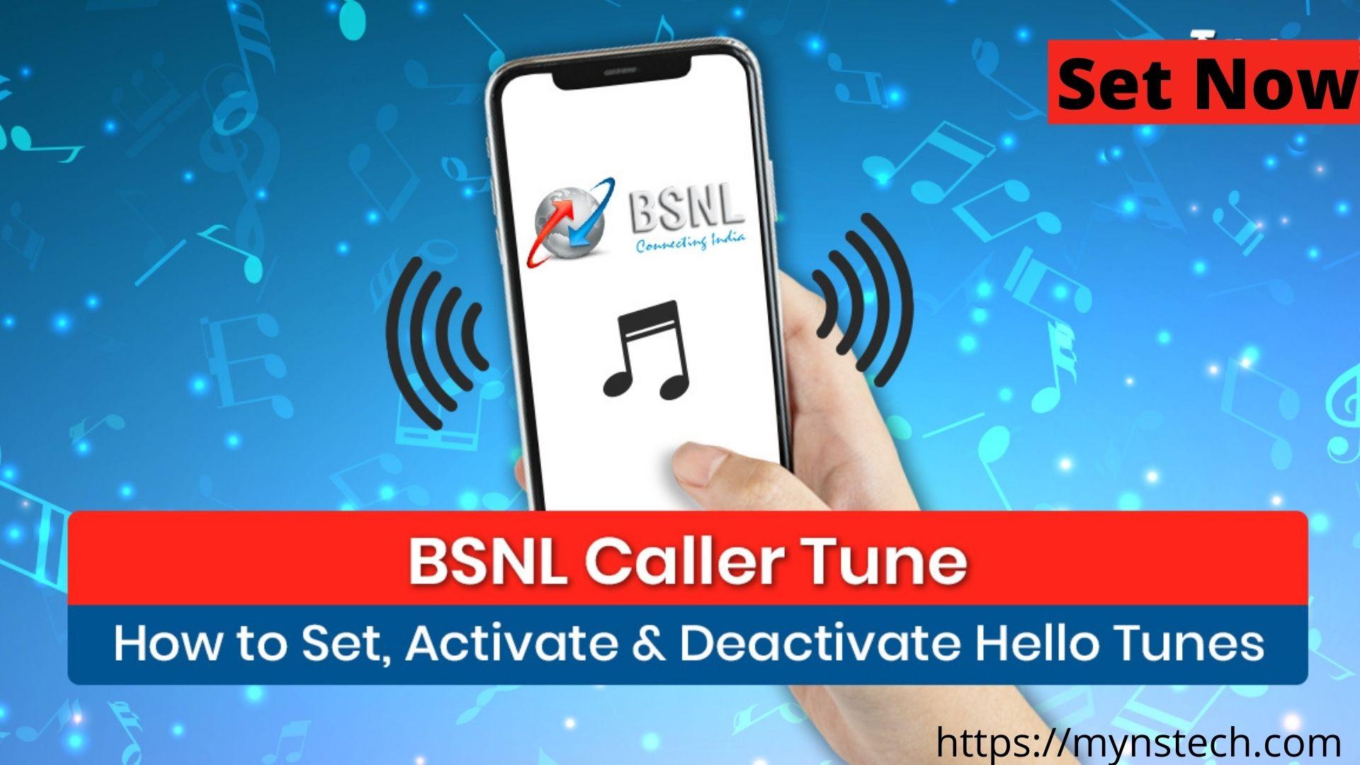 how to set bsnl caller tune