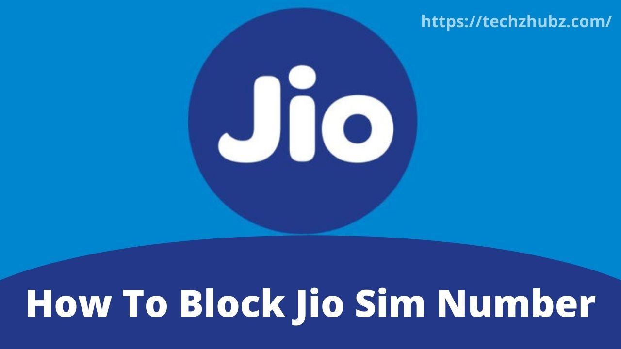 How To Block Jio Sim Number