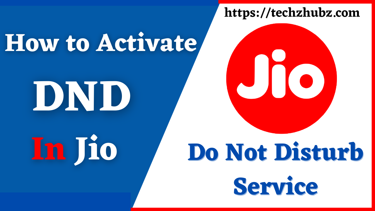 How To Activate DND in Jio