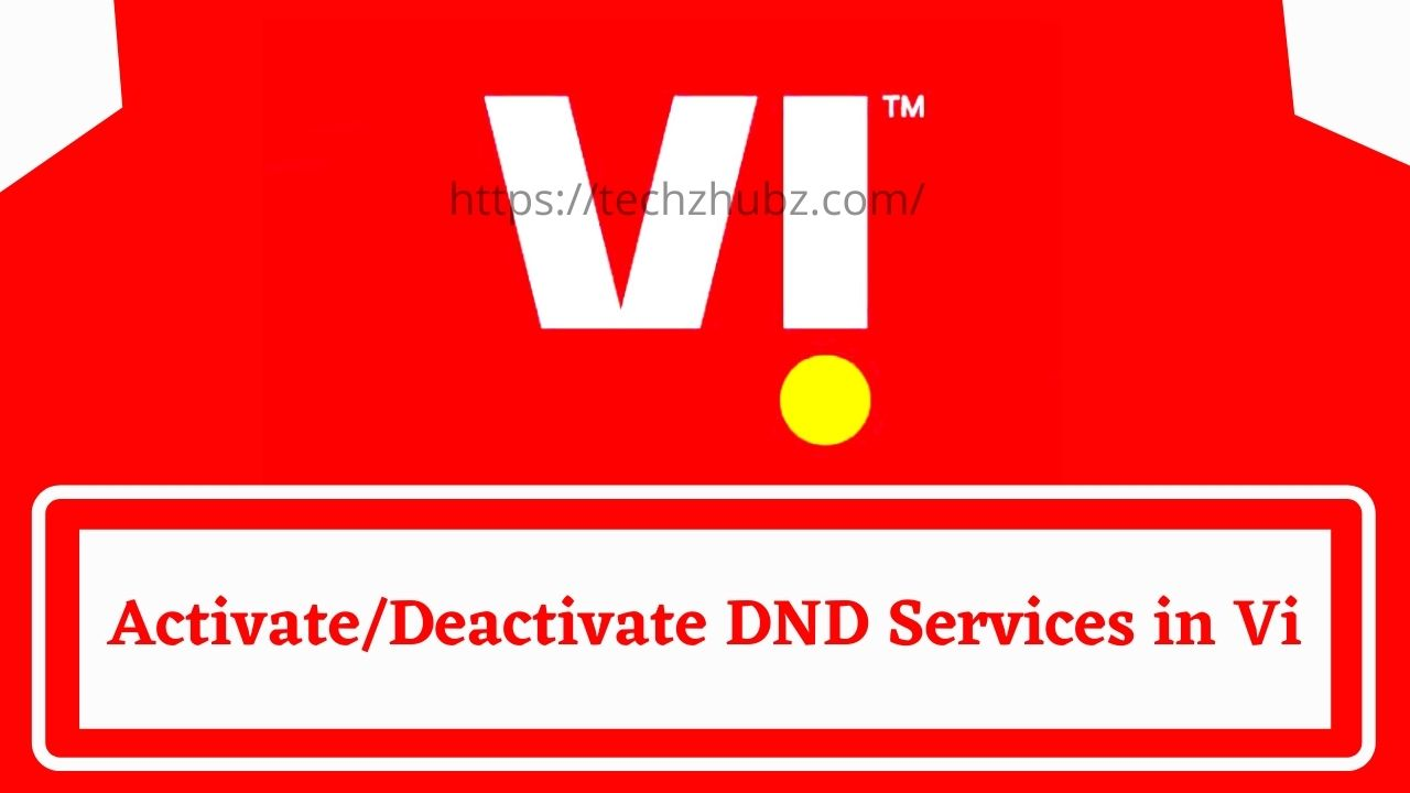 Activate/Deactivate DND Services in Vi