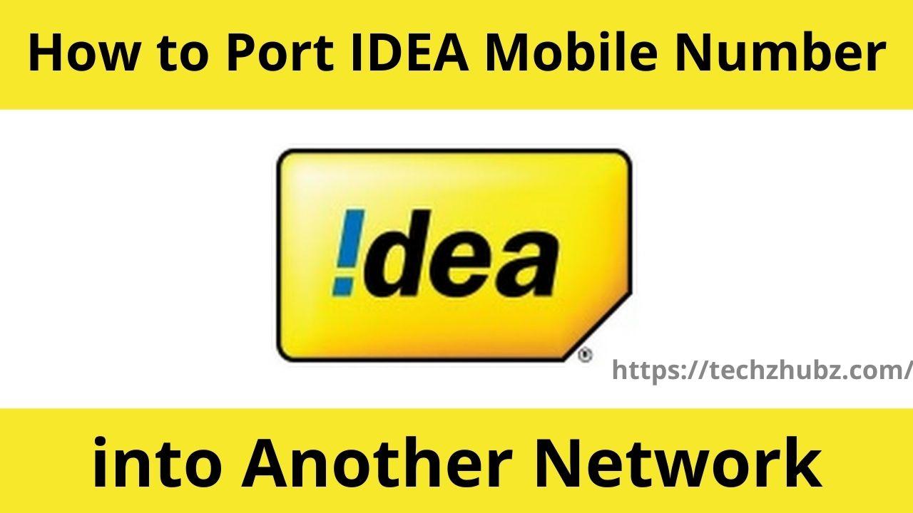 Port IDEA Mobile Number