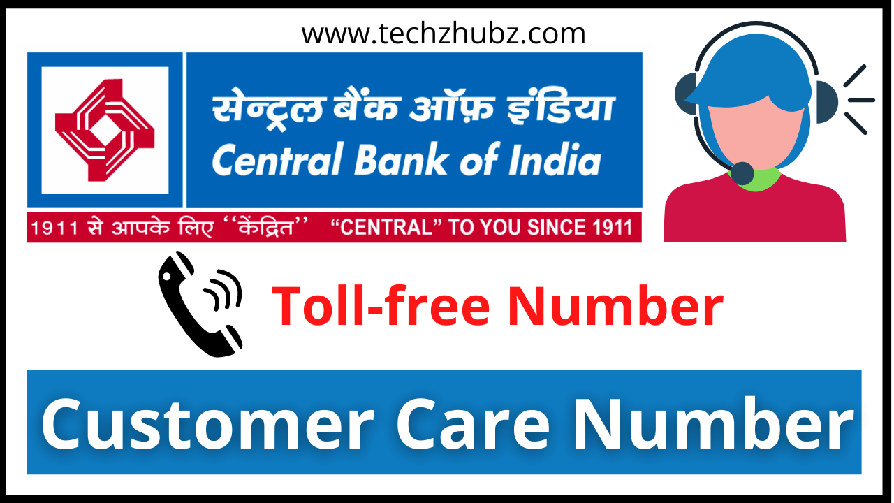 Central Bank of India Customer Care Number