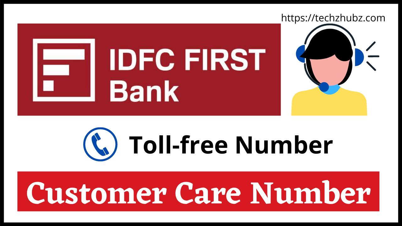 IDFC Bank Customer Care Number