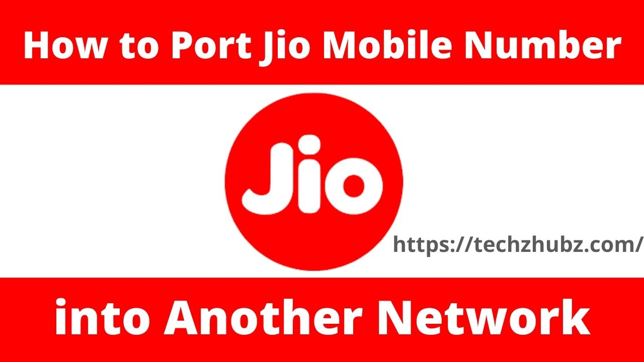 Port Jio Mobile Number into Another Network