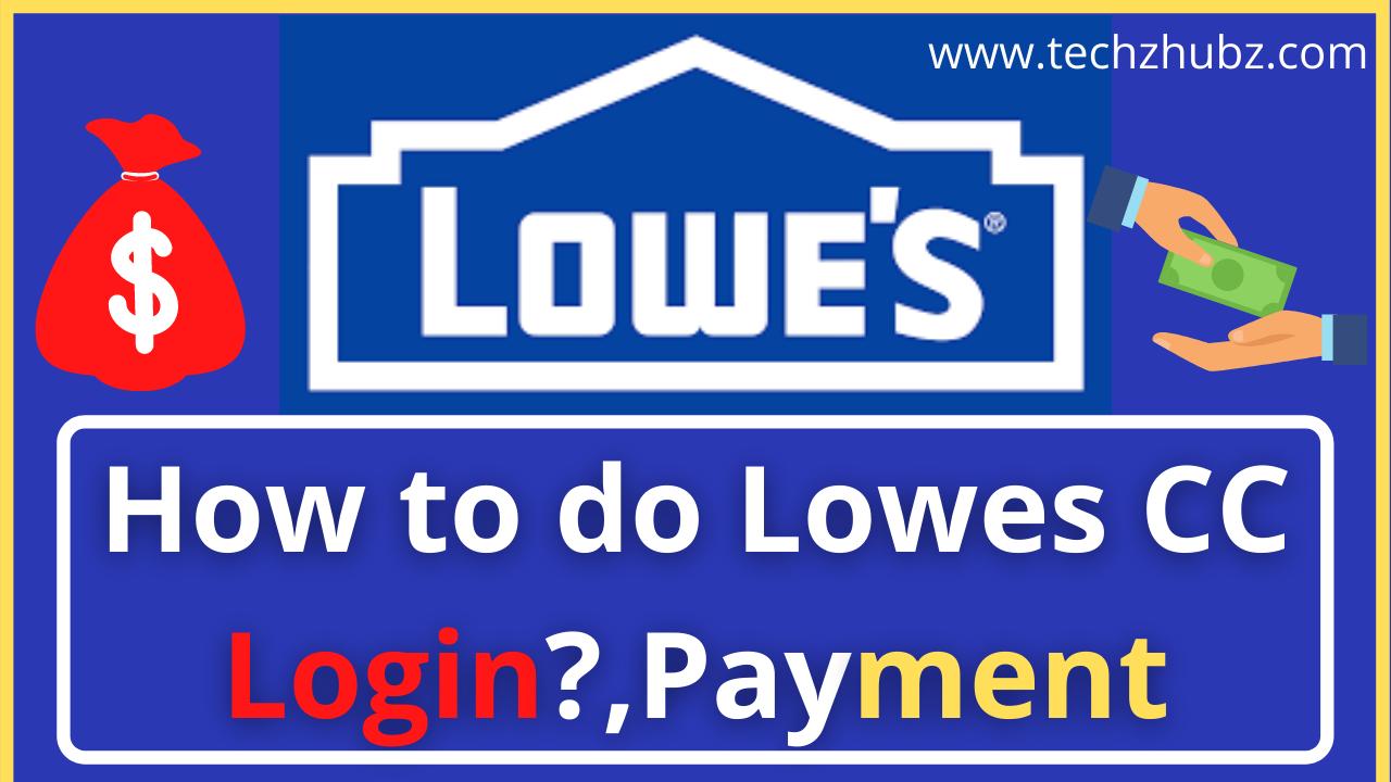 Lowes CC Login