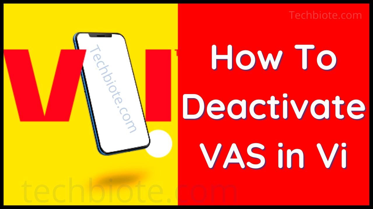How To Activate-Deactivate VAS in Vi